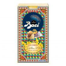BACI PERUGINA LIMITED EDITION DOLCE VITA Cioccolatini Ripieni con Granella al Gusto Limone e Nocciola Intera Scatola 150g
