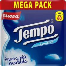 Tempo Comfort Carta Igienica, Morbida E Resistente, 60 Maxi Rotoli
