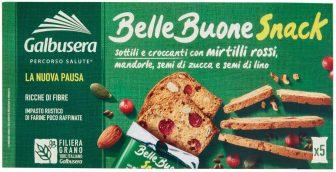 Galbusera Snack ai Mirtilli Rossi e Mandorle, 150g