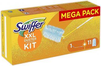 Swiffer Duster 360 XXL Cattura Polvere, 1 Manico, 11 Piumini
