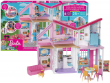 Barbie- Playset Casa di Malibu a 2 Piani con 6 Stanze