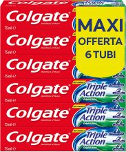 Colgate Dentifricio Triple Action – 6 Confezioni da 75 ml