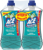 ACE PAvimenti Igienizzante Talco e Muschio Bianco – Bipacco 2 x1300 ml – Cartone da 3 bipacchi