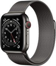 Novità Apple Watch Series 6 (GPS + Cellular, 40 mm) Cassa in acciaio inossidabile color grafite con Loop Cassa in maglia milanese