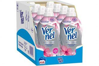 Vernel Fresh Control Ammorbidente Neutralizza Odori – Freschezza Floreale – 8 x 52 Lavaggi