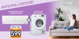 Unieuro: ANTICIPA L'ESTATE! Compra un climatizzatori e ricevi asciugatrice in omaggio
