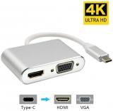 AMANKA USB C VGA HDMI Adattatore, 2 in 1