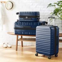 AmazonBasics – Trolley rigido e robusto, alta qualità, 56 cm, Blu