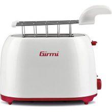 Girmi TP1101 tostapane 2 fetta/e Rosso, Bianco 800 W