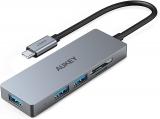 AUKEY Hub USB C con Lettore di Scheda SD e MicroSD