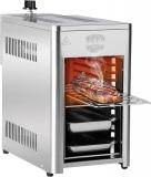 BARBEC-U Barbecue a Gas in Acciaio Inox ad Alta Potenza da 200 a 800 °C su 10 Livelli di Cottura, per Carne, Pesce, Frutta di Mare, Verdura