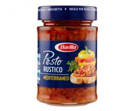 Barilla Sugo Pesto Rustico Mediterraneo, con Zucchine, Peperoni e Pomodori, Senza Glutine – 200 g