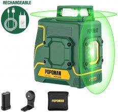 Livella Laser verde 2×360° POPOMAN MTM340B