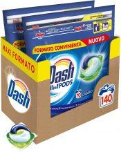 Dash Pods Allin1 Detersivo Lavatrice in Capsule Regolare 140 Lavaggi