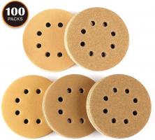 [DOPPIO SCONTO] Dischi Abrasivi 100 Pezzi Tacklife ASD04C Kit di Carta Abrasivi Gialla Diametro 125mm