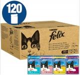 Felix Cat Food Gelatina mista e sapori di sugo