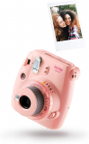 Fujifilm Instax Mini 9 Clear Fotocamera, con 10 Mini Film, Rosa