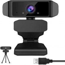 GEHUAY Webcam per PC con Microfono – Otturatore Webcam 1080P