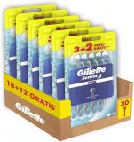 Gillette Sensor3 Cool Rasoi Uomo Usa e Getta, Maxi Formato da 30 Rasoi di cui 12 Gratis