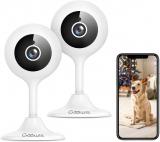 Goowls 1080p Videocamera Sorveglianza interno WiFi – 2 PEZZI