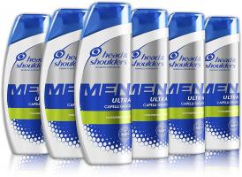 Head & shoulders Men Ultra Purificante Shampoo Antiforfora,  Pacco da 6 x 225 ml