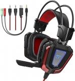 Headset per Gaming TaoTronics con Microfono Isolante e Luce LED