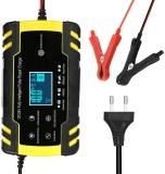 KKmoon – Caricatore per batteria auto, 8 A, 12 V/24 V