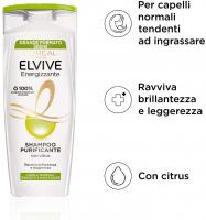L'Oréal Paris Multi Pack Shampoo Energizzante Purificante Citrus per Capelli Normali, 300 ml, Confezione da 12