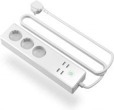 meross Ciabatta Intelligente Multipresa Wifi Smart 3 Prese AC 4 Porte USB