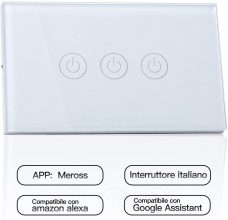 meross Wifi Smart Interruttore Parete Italiana Intelligente