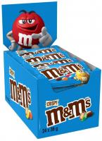 M&M'S 104383 Crispy Confetti Cioccolato con Riso Soffiato, 24 Bustine X36G (864G)