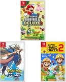 New Super Mario Bros. U Deluxe + Super Mario Maker 2 + Pokémon Spada (Nintendo Switch)