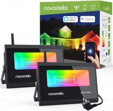 Novostella Smart Faretto LED RGBCW Esterno, 2 Pezzi