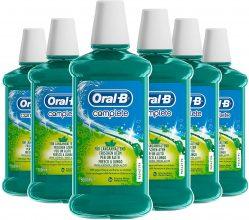 Oral-B Complete Collutorio Antibatterico Senza Alcol –  Maxi Pacco da 6 x 500 ml