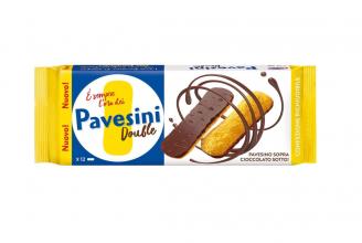 Pavesi Pavesini Double, Snack Croccante con Cioccolato Fondente, Confezione da 60 gr