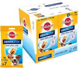 Pedigree Dentastix Snack per la Igiene Orale (Cane Piccolo 5-10 kg) – 10 Confezioni da 7 Pezzi