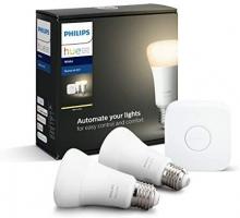 Philips Lighting Hue White Starter Kit con 2 Lampadine Attacco E27