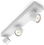 Philips Lighting Star, Lampada 3 Faretti LED Integrato Orientabili, Bianco, 3 x 4.5 W