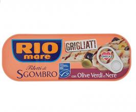 Rio Mare Filetti Di Sgombro Grigliati Con Olive Verdi E Nere, Ricco Di Omega 3 – 120 g