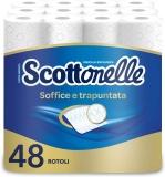 Scottex Scottonelle Carta Igienica Soffice e Trapuntata, Confezione da 48 Rotoli
