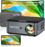 TOPTRO X1 Proiettore WiFi Bluetooth con Custodia da Trasporto
