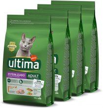 Ultima Cibo per Gatti Sterilizzati Adulti con Pollo – Confezione da 4 x 1,5 kg – Totale: 6 kg