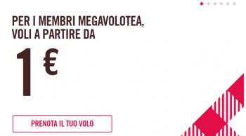 Volotea: Voli ad un SOLO EURO per i membri MegaVolotea