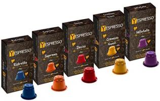 yespresso 200 Capsule NESPRESSO compatibili (5 MISCELE)